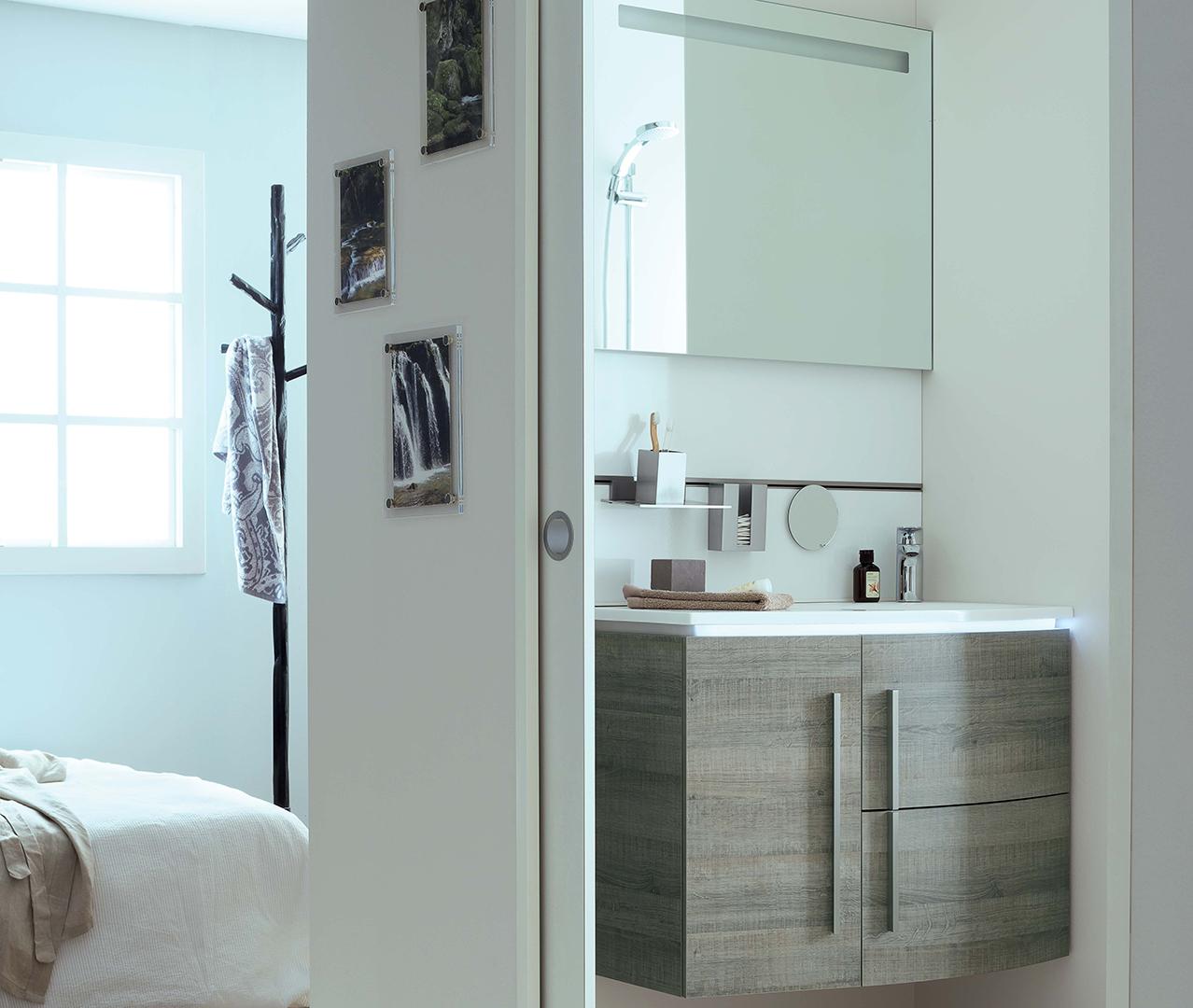 Gamme soon meuble salle de bain original sanijura for Configurer une salle de bain