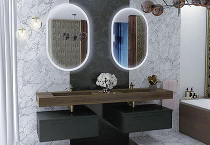 meuble de salle de bain Infinie art déco - Sanijura