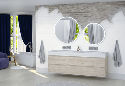 meuble de salle de bain Infinie montagne - Sanijura