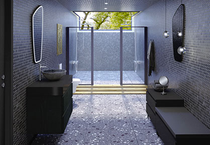 meuble de salle de bain Infinie Noir - Sanijura