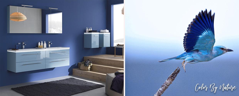 badkamermeubel blauw halo - Sanijura